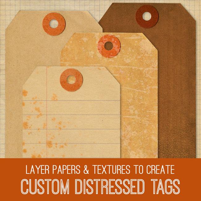 Custom Distressed Tags