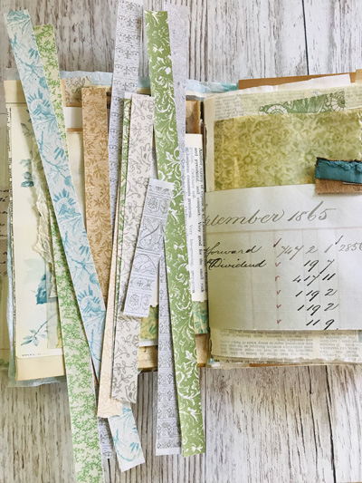 washi tape delicate endpapers bundle