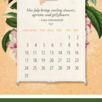 2022 Free Calendar Pinterest Graphic