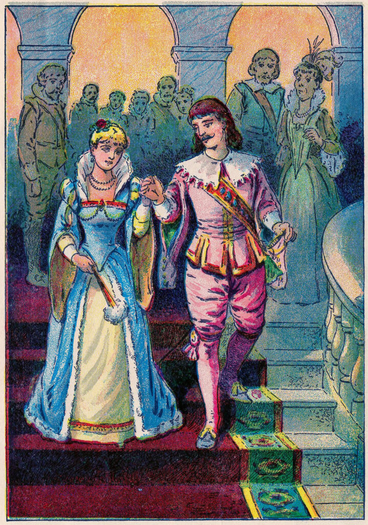 Fairy Tale Character Image Cinderella and Prince