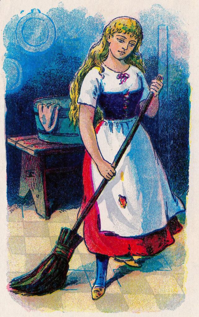 Cinderella with Broom Image