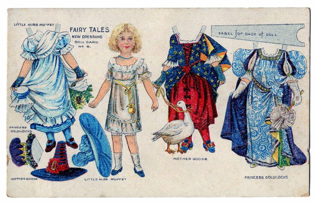 Fairy Tale vintage paperdoll image