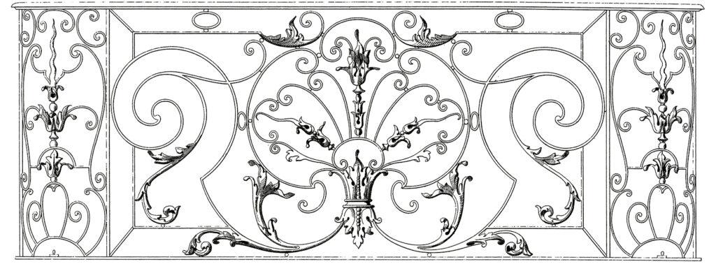 fancy French iron work image