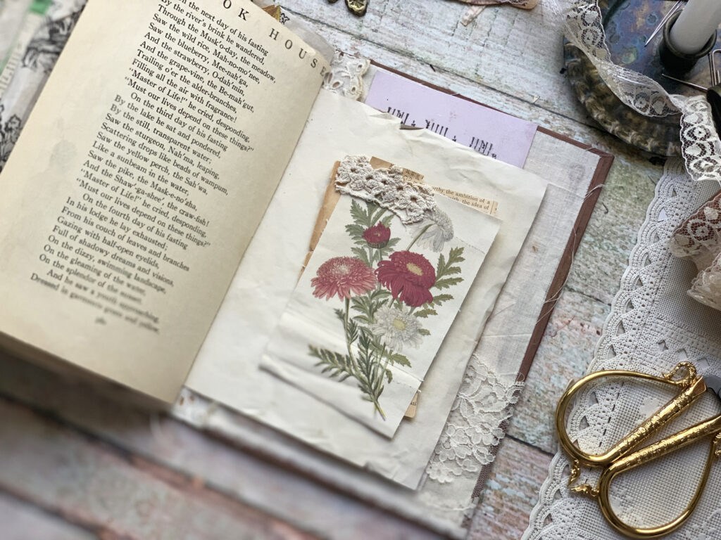 autumn floral ephemera page