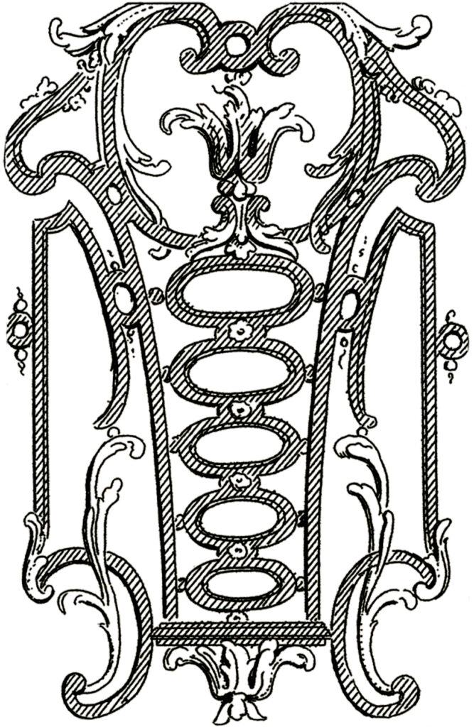 French scroll work ornament clipart