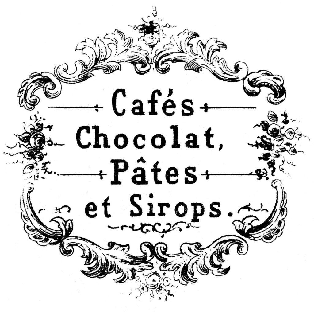 French Cafe Chocolat Label Image