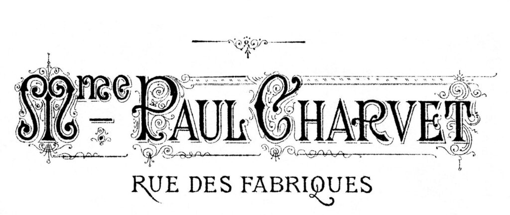 French Chic Transfer Graphic Mme Paul Charvet