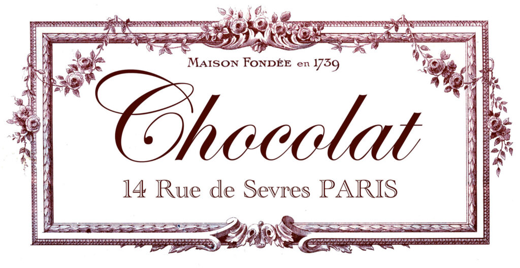 French chocolate advertising image
