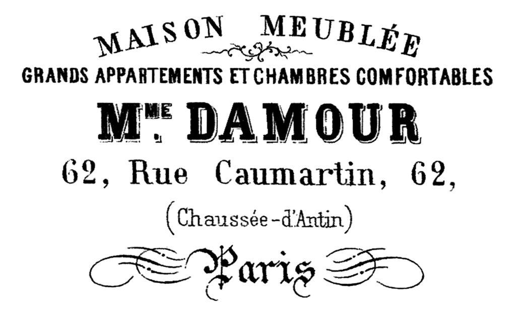 French typography Paris apartment vintage image