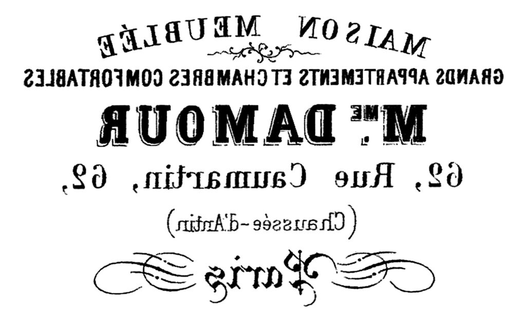 French typography reverse image