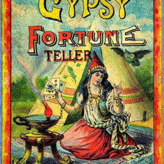 Gypsy fortune teller vintage illustration