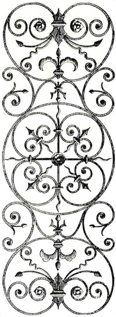 vintage iron grille image