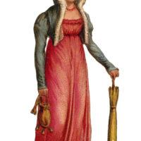 lady top hat parasol regency period image