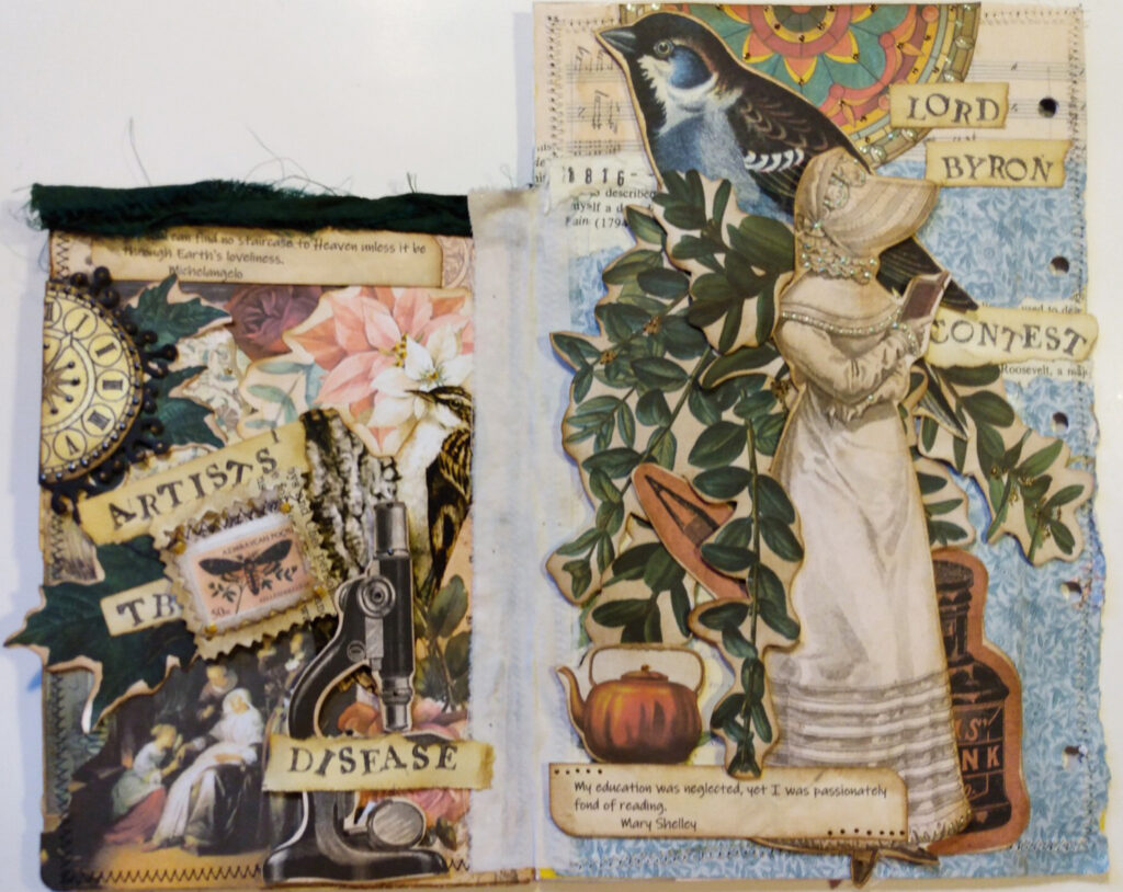 Lord Byron junk journal page