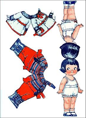 Paper Kewpie Doll illustration