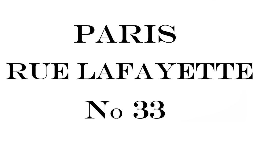 Paris Rue Lafayette vintage image