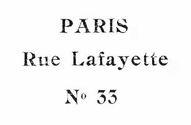 Paris Rue Lafayette vintage typography illustration