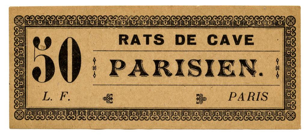 Parisien label ticket image