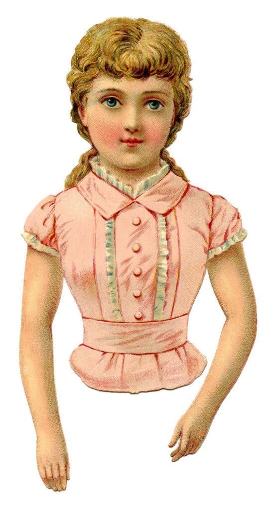 scrap girl pink blouse image