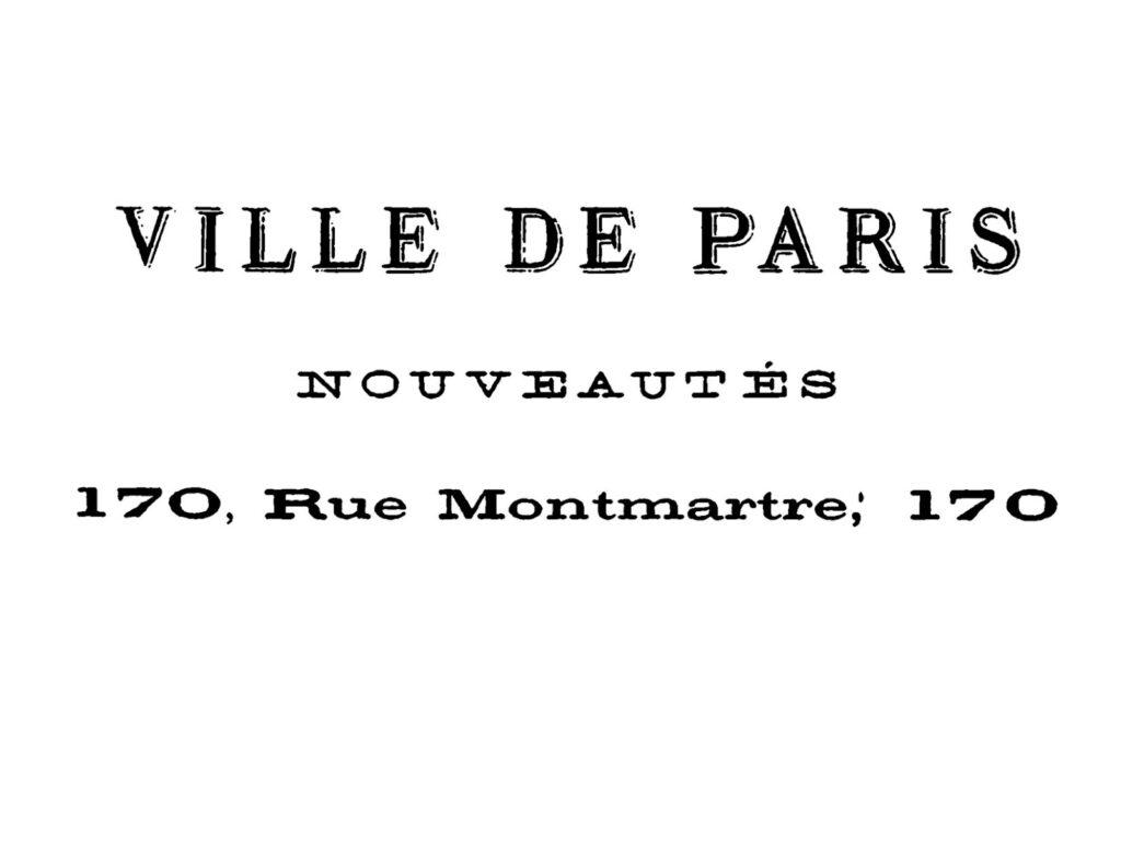 Ville de Paris French antique lettering image