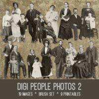 vintage digi people photos 2 ephemera bundle