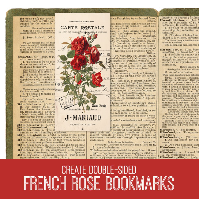 French Rose bookmarks PSE tutorial
