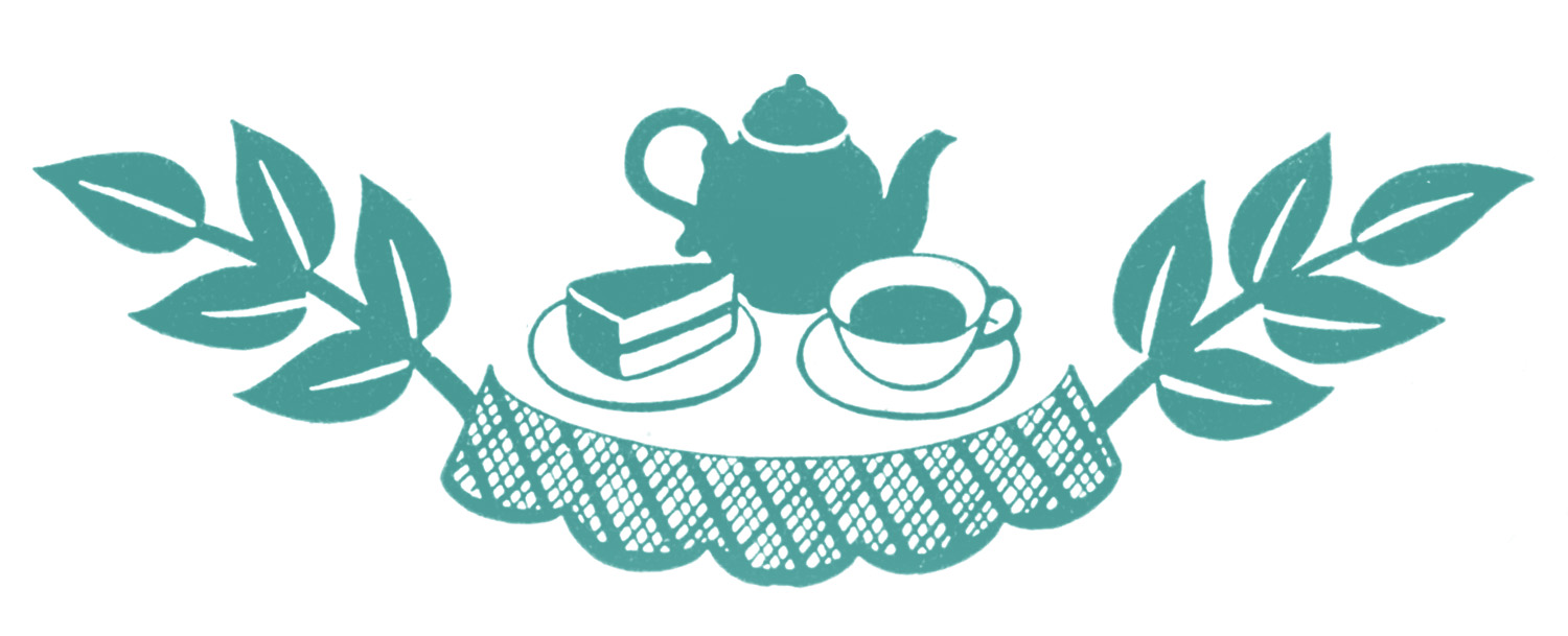 Retro Clip Art - Tea Time Silhouettes - The Graphics Fairy