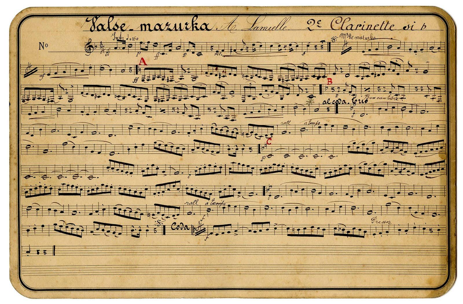 old looking sheet music - Heart.impulsar.co