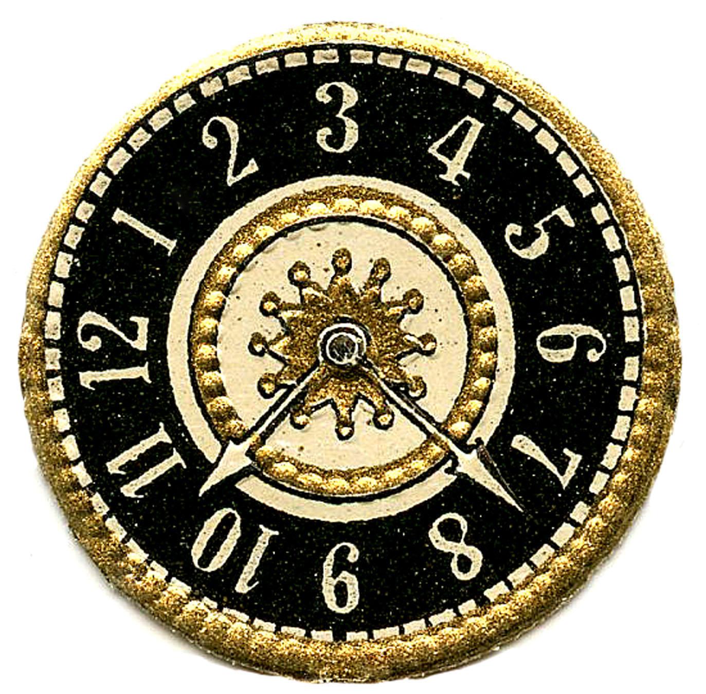 Vintage Clip Art Scrap Clock Faces Steampunk The