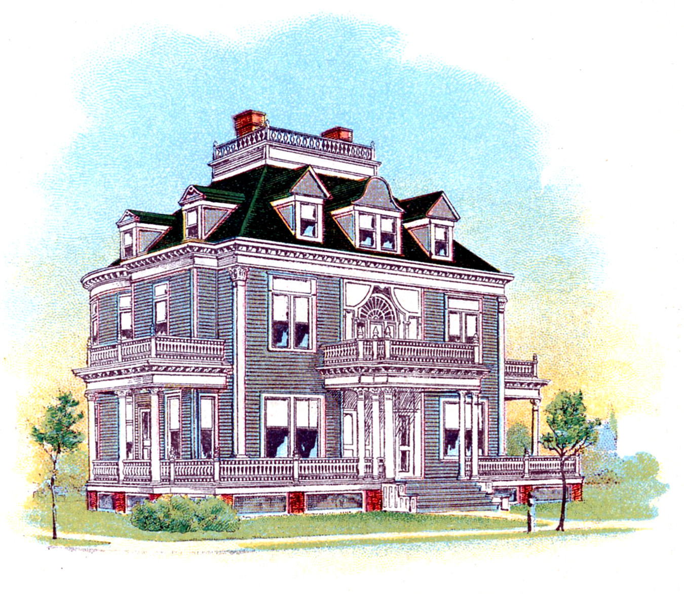 Vintage Architecture Image Victorian House The