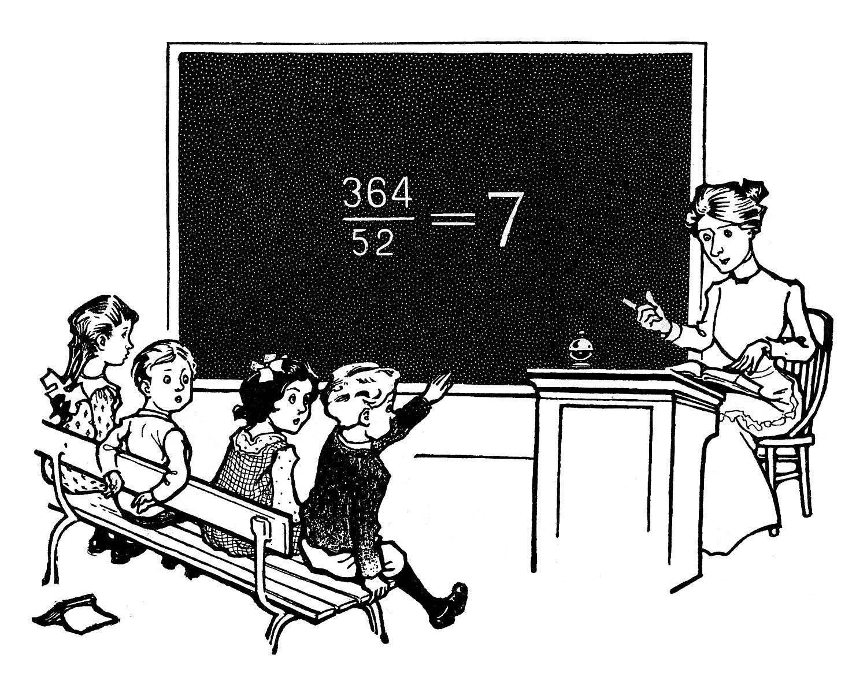 Vintage Clip Art - Back to School - The Graphics Fairy for School Table Clipart  8lpfiz
