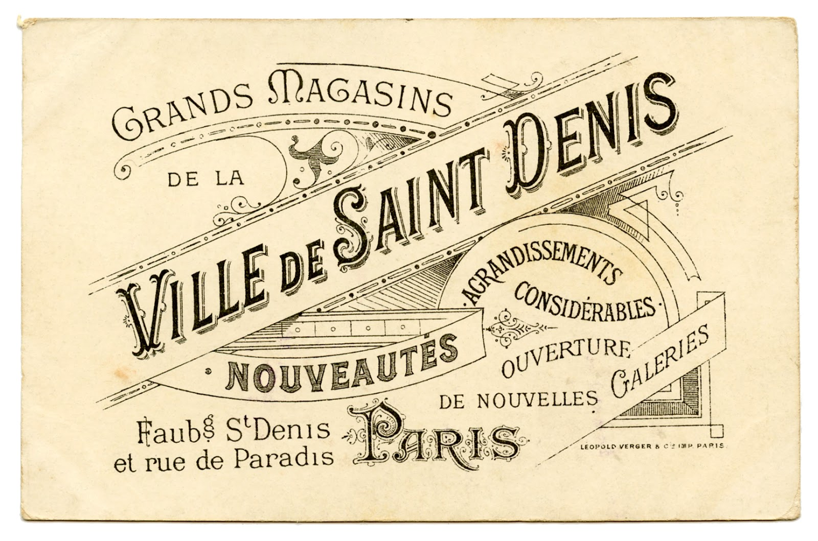 Vintage French Graphic Amazing Paris Ephemera