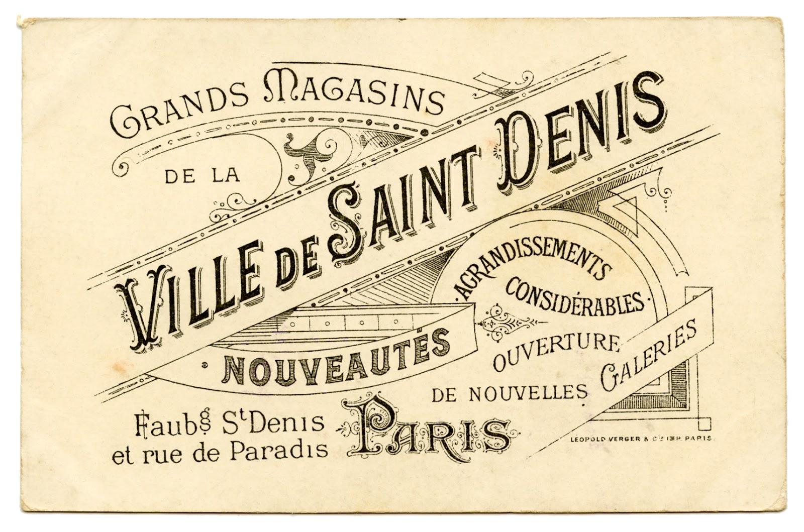 Vintage French Graphic Amazing Paris Ephemera The