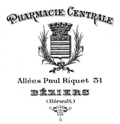 Printable Image Transfer - French Pharmacy Typography