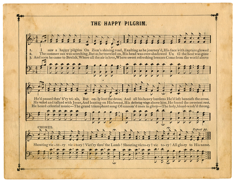 Vintage Sheet Music The Happy Pilgrim The Graphics Fairy