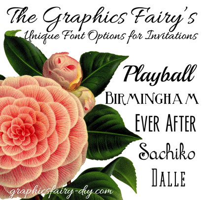 Free Fonts Invitations Weddings