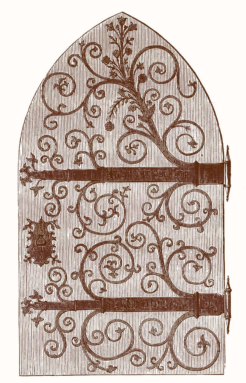 Vintage Clip Art u2013 Gothic Door u2013 Harry Potter-esque  sc 1 st  The Graphics Fairy & Vintage Clip Art - Gothic Door - Harry Potter-esque - The Graphics Fairy