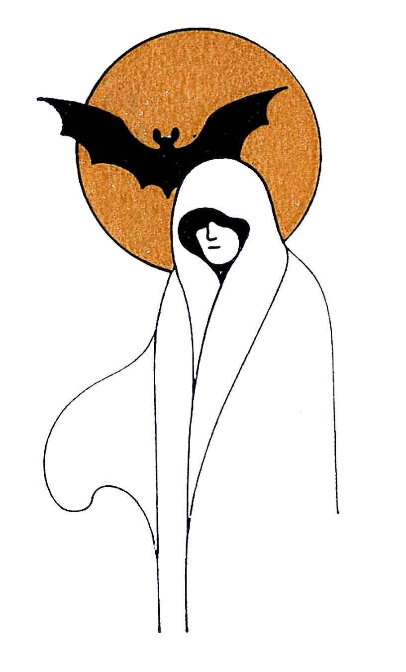 vintage halloween clip art ghost ladies the graphics fairy rh thegraphicsfairy com clip art ghost town clip art ghost faces