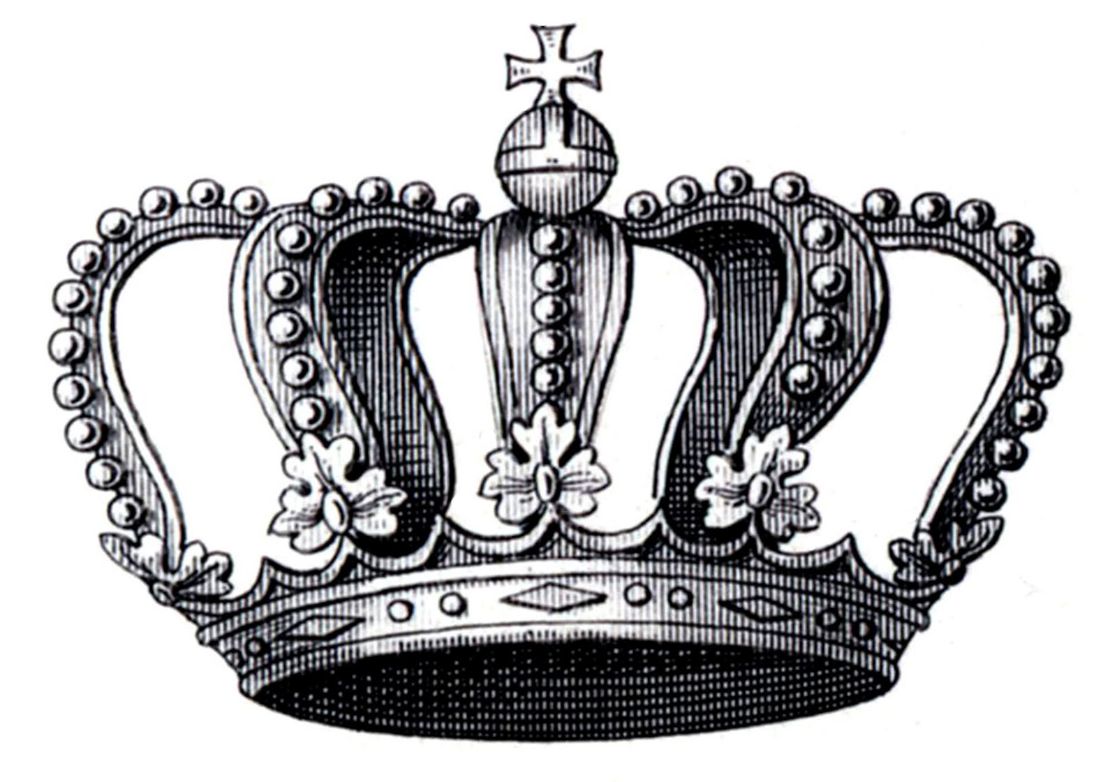Vintage Crown Clip Art 75