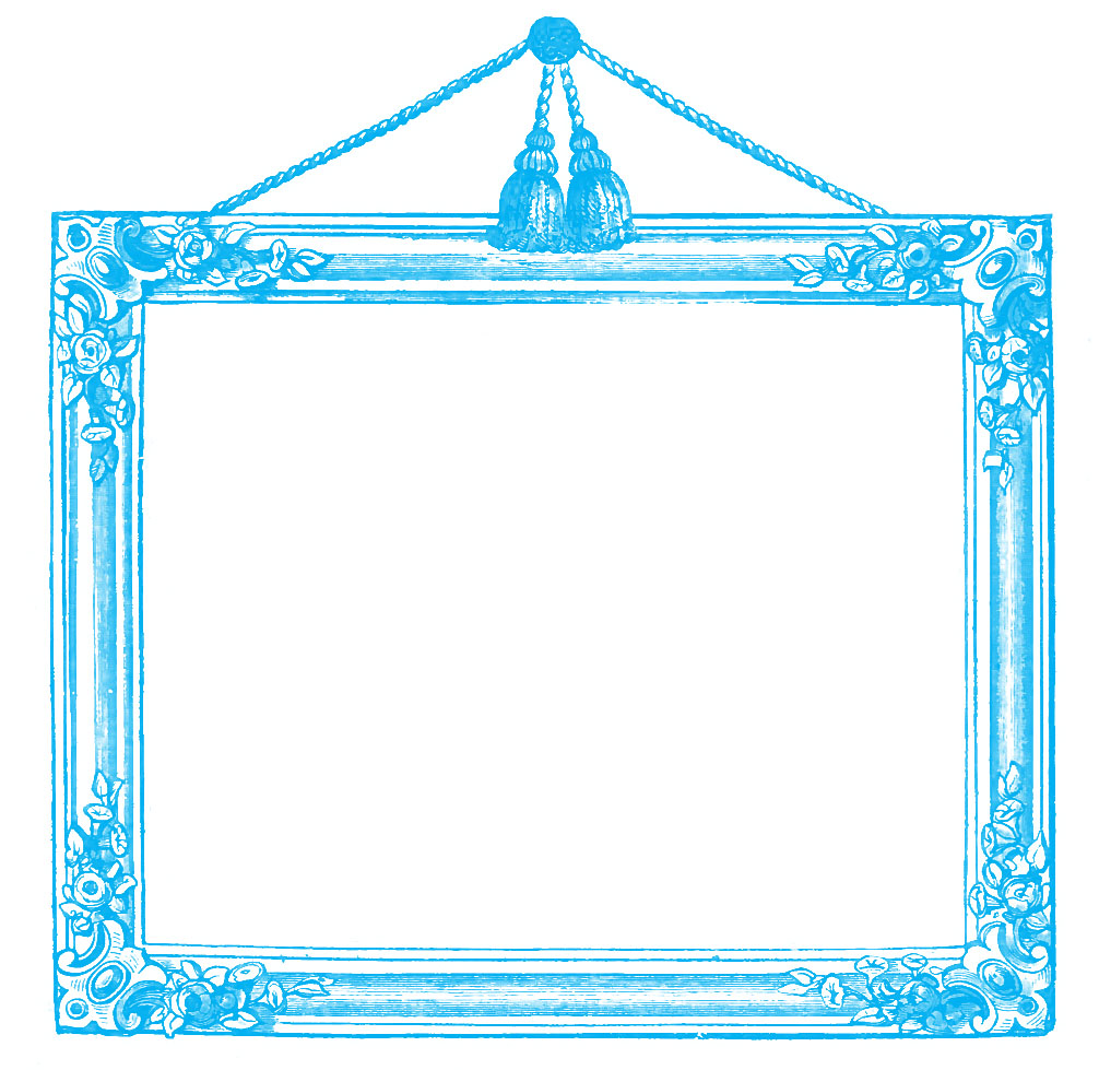 Vintage Graphics - Victorian Frames with Tassels - The Graphics Fairy