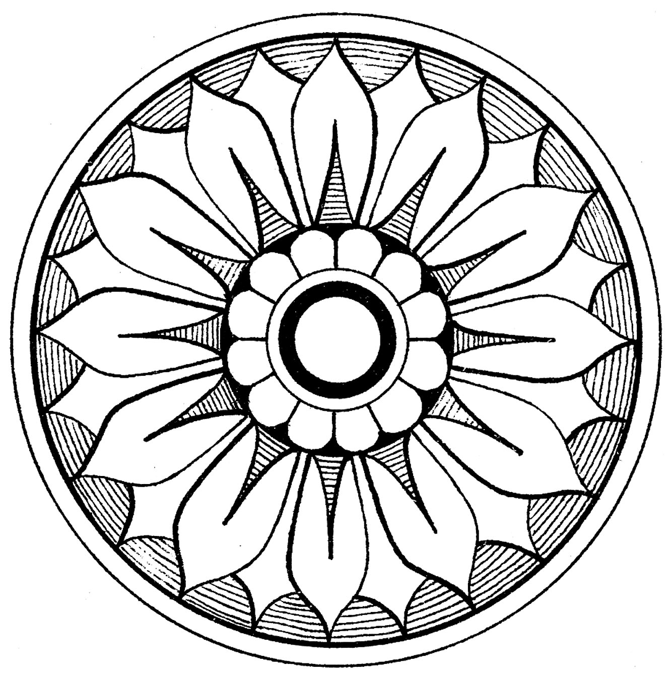 Ornamental clip art antique medallions the graphics fairy for Graphic design coloring pages
