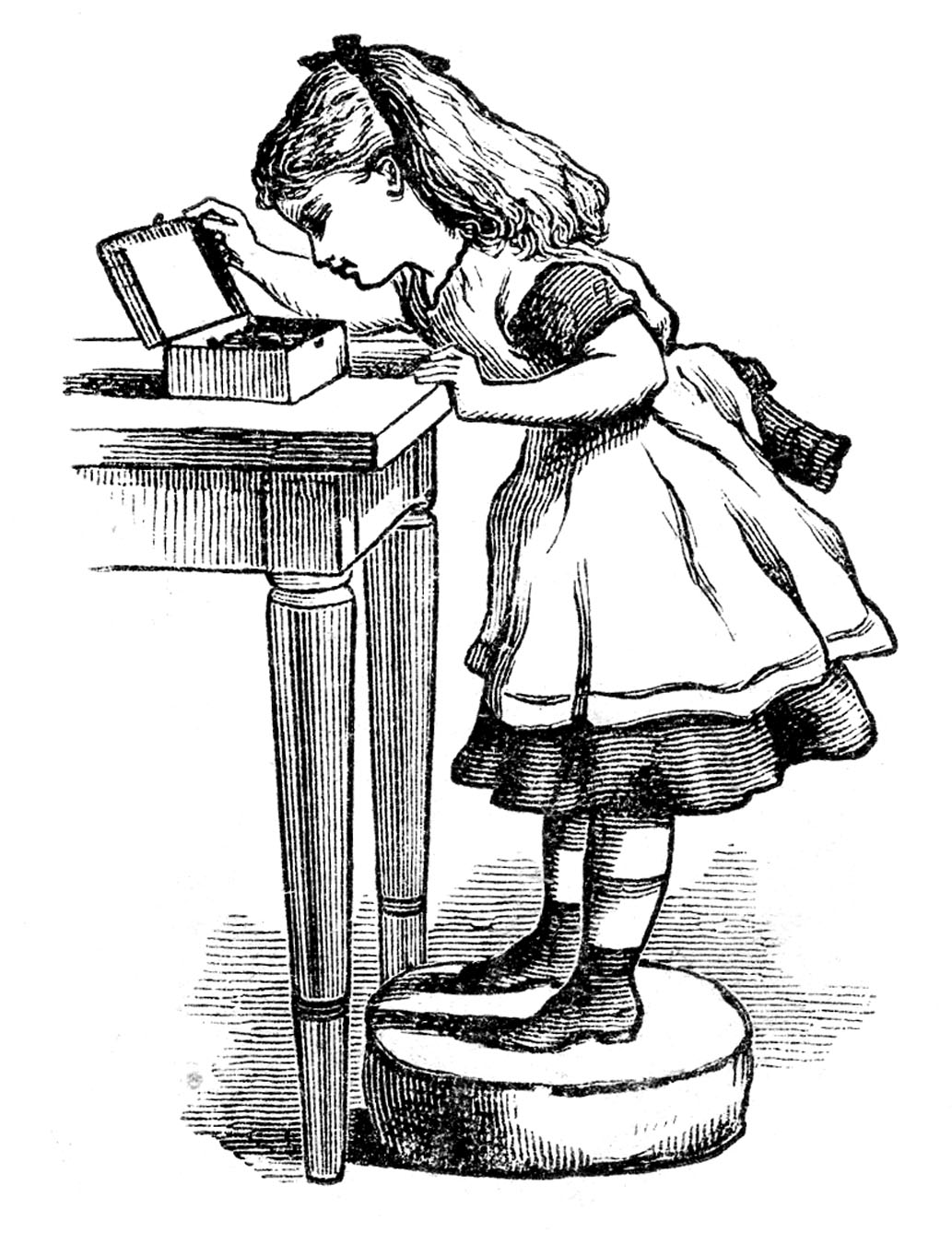 Vintage Clip Art Alice In Wonderland Look Alike The Graphics Fairy
