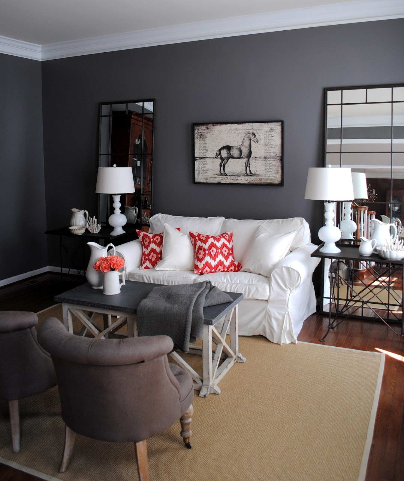 Black And Red Living Room Theme