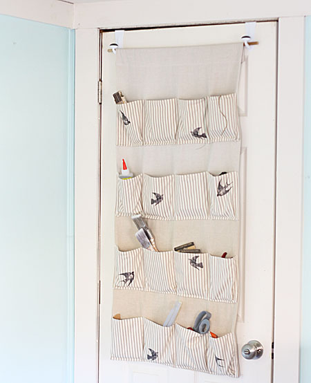 Delicieux There You Have It: A Customized, Stylish Hanging Organizer. I Love The  Birds, But It Would Also Look Gorgeous If You Found Vintage Images Of The  Supplies ...