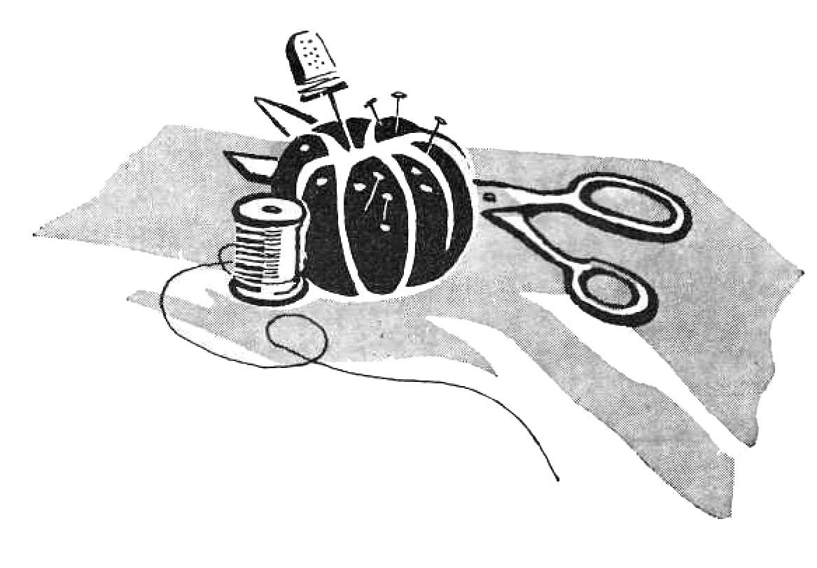 Vintage Clip Art - Sewing Supplies - Pin Cushion - Retro ...