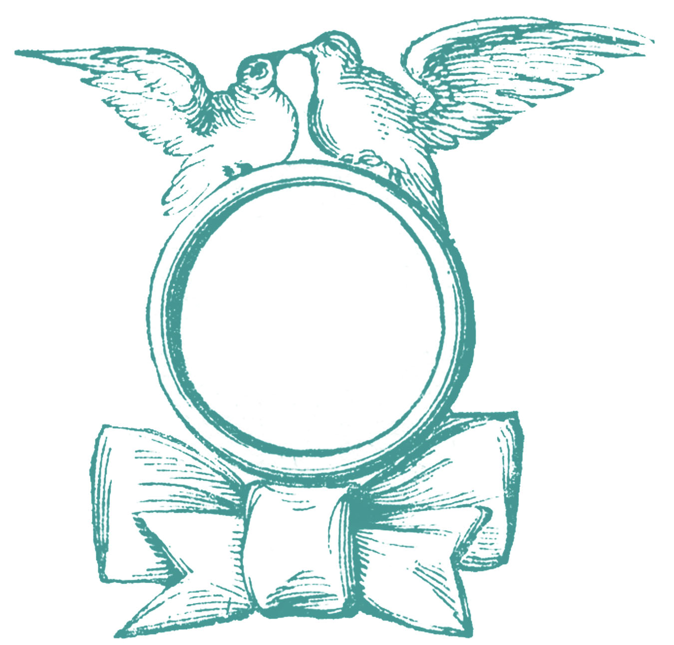 vintage wedding clip art ring with doves the graphics