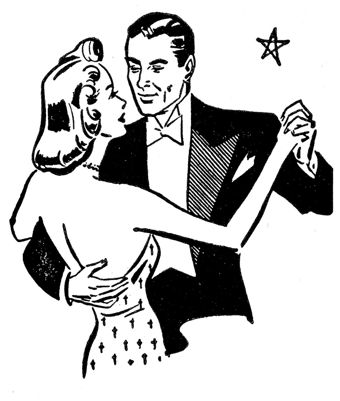 Retro Clip Art - Couples - Anniversary - The Graphics Fairy