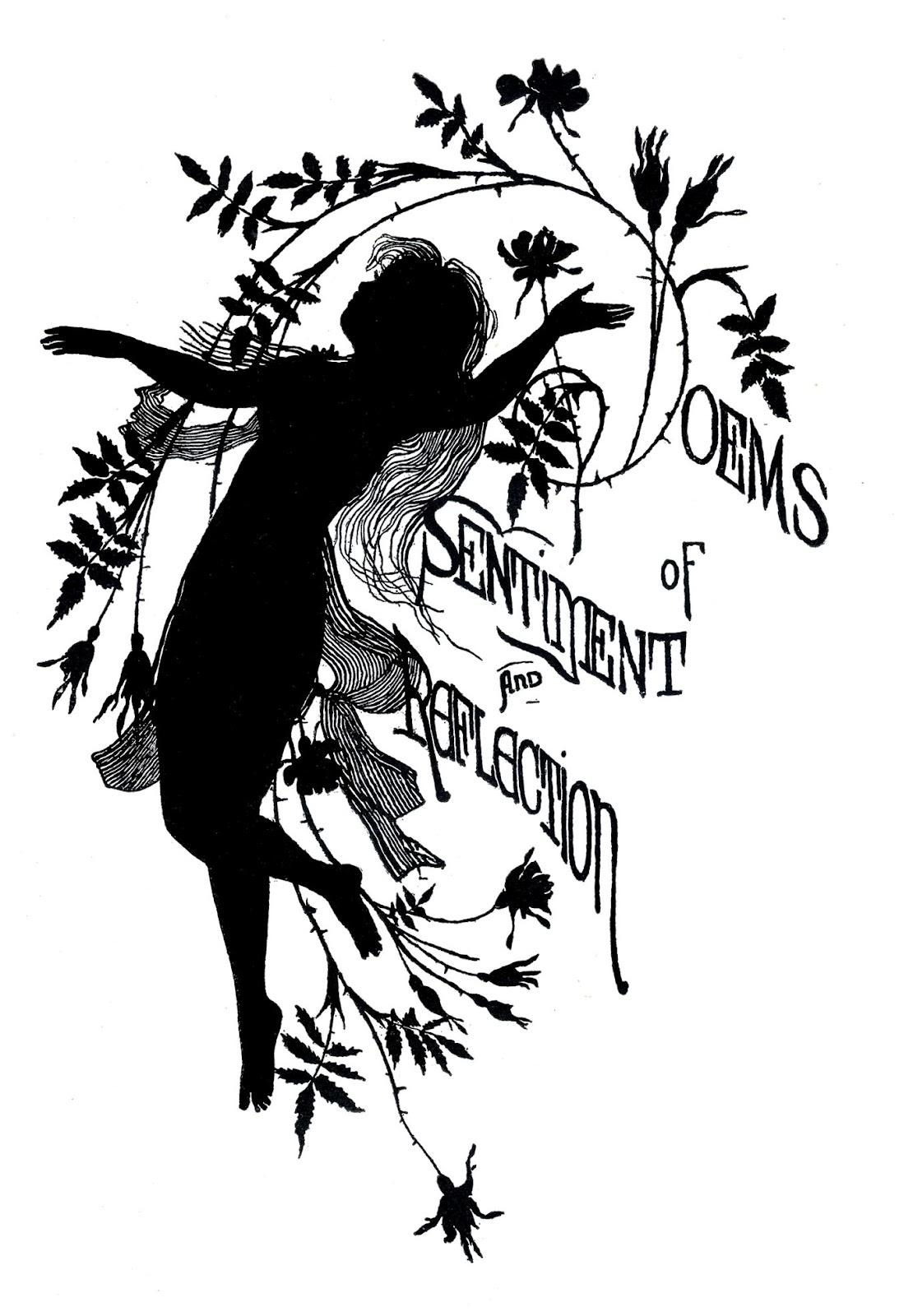 Vintage silhouette poem fairy the graphics fairy