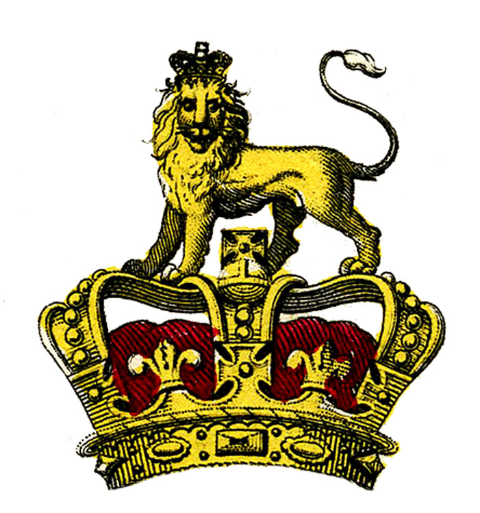 This Is An Interesting Looking Heraldry Graphic From 1809 Book One Shows The Head Piece Of A Suit Armour Thats Topped With Crown And Lion