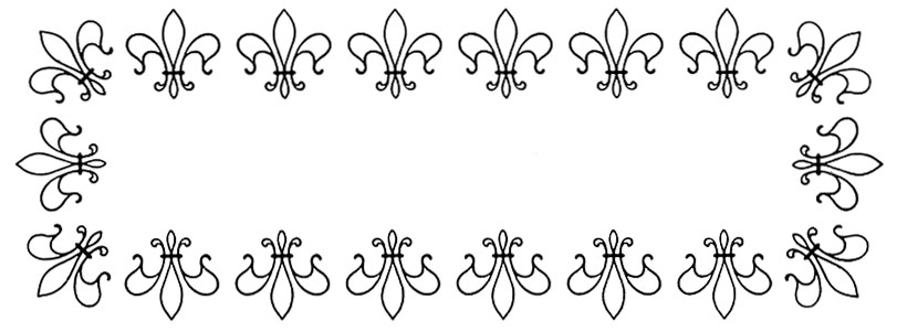 Vintage Graphic Frames - Fleur de Lis - The Graphics Fairy